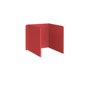 Free Standing 3 Sided 700mm High Fabric Desktop Screen - Pitlochry Red