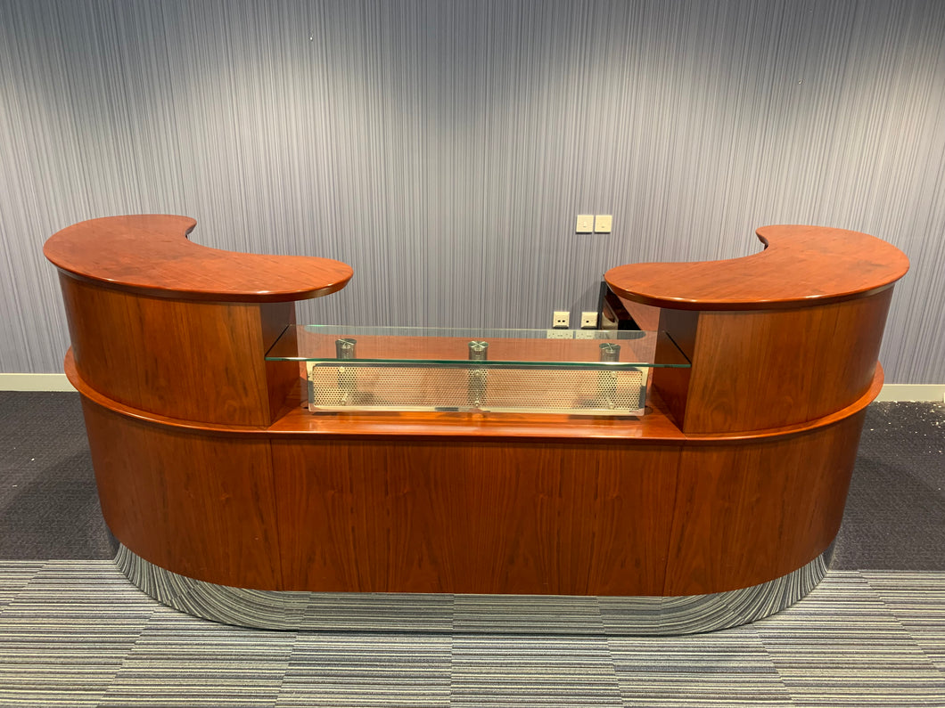 Rich Mahogany High-End Double Sided Reception Counter