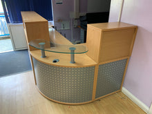 Load image into Gallery viewer, Beech Curved Reception Unit - Flogit2us.com