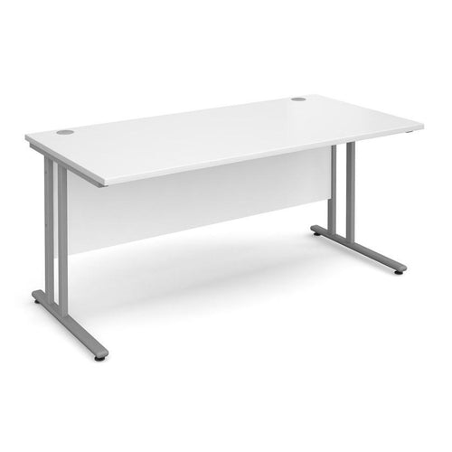 Maestro 25 1600mm White Straight Desk (Special Offer) - Flogit2us.com