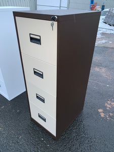 Talos 4 Drawer Coffee & Cream Filing Cabinet (New Slight Second)