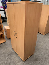 Load image into Gallery viewer, Tall Beech Wooden Office Cupboard - Flogit2us.com