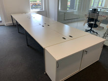 Load image into Gallery viewer, 1600mm White Straight Desk - Flogit2us.com