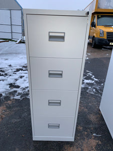 Talos 4 Drawer Grey Filing Cabinet (New Slight Second) - Flogit2us.com