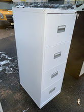 Load image into Gallery viewer, Talos 4 Drawer White Filing Cabinet (New Slight Second) - Flogit2us.com