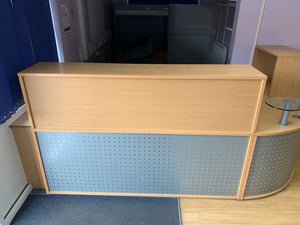 Beech Curved Reception Unit - Flogit2us.com