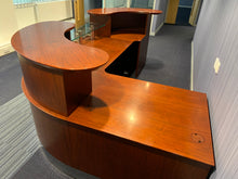 Load image into Gallery viewer, Rich Mahogany High-End Double Sided Reception Counter