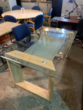 Load image into Gallery viewer, Stunning Light Oak & Glass Home/Office Desk - Flogit2us.com