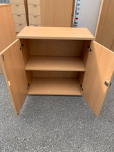 Load image into Gallery viewer, Low Beech Wooden Office Cupboard - Flogit2us.com