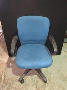Blue Office Chair With Arms - Flogit2us.com