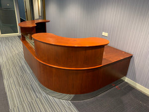 Rich Mahogany High-End Double Sided Reception Counter - Flogit2us.com