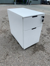 Load image into Gallery viewer, White Steel Under Desk 2 Drawer Pedestal (Special Offer)