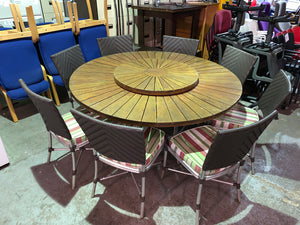 Large Round Outdoor/Garden Table & Chair Set - Flogit2us.com