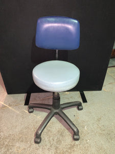 Blue Faux Leather Operators Chair - Flogit2us.com