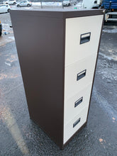 Load image into Gallery viewer, Talos 4 Drawer Coffee & Cream Filing Cabinet (New Slight Second) - Flogit2us.com