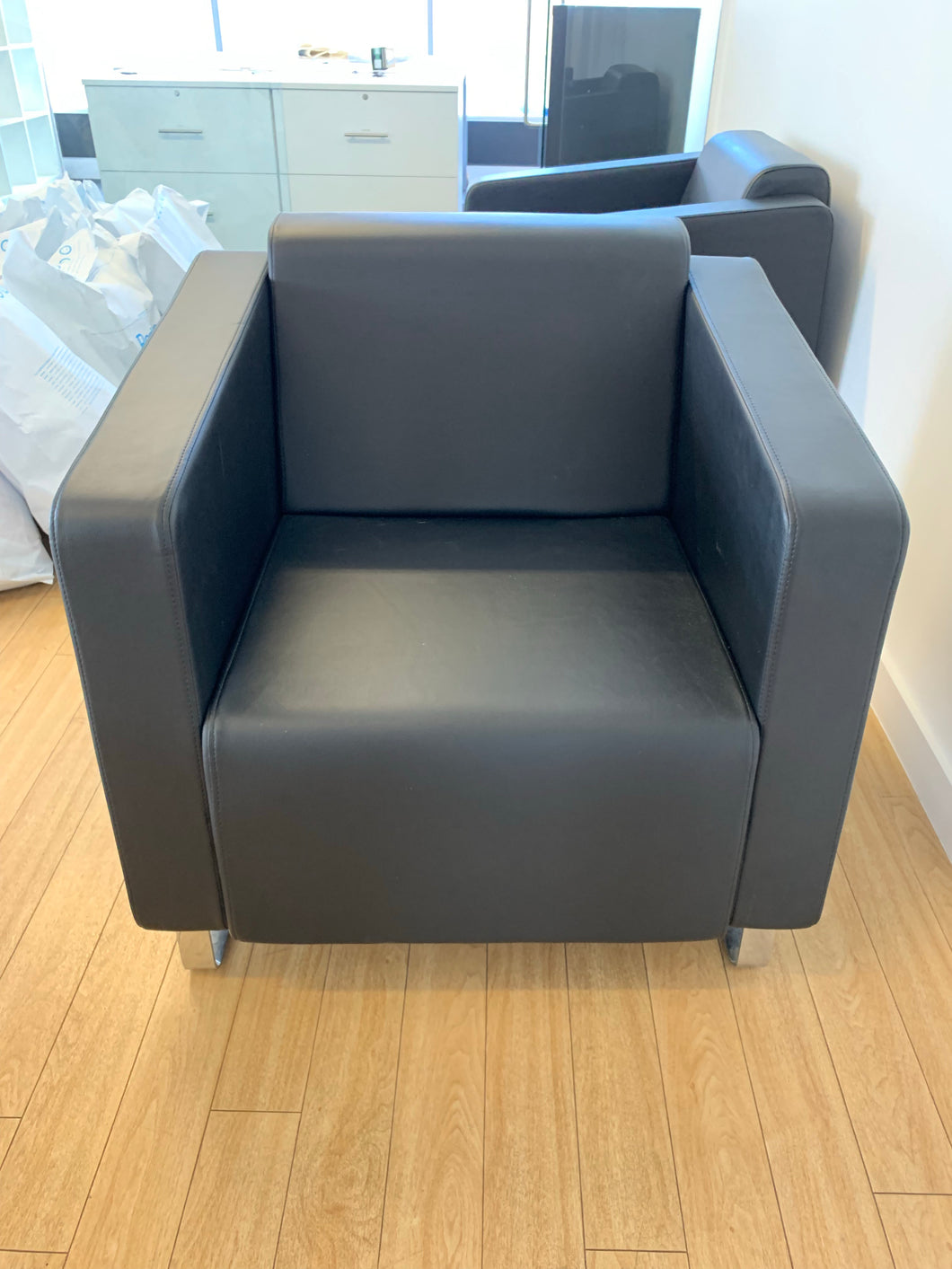 Bejot Leather Faced Reception Chair - Flogit2us.com