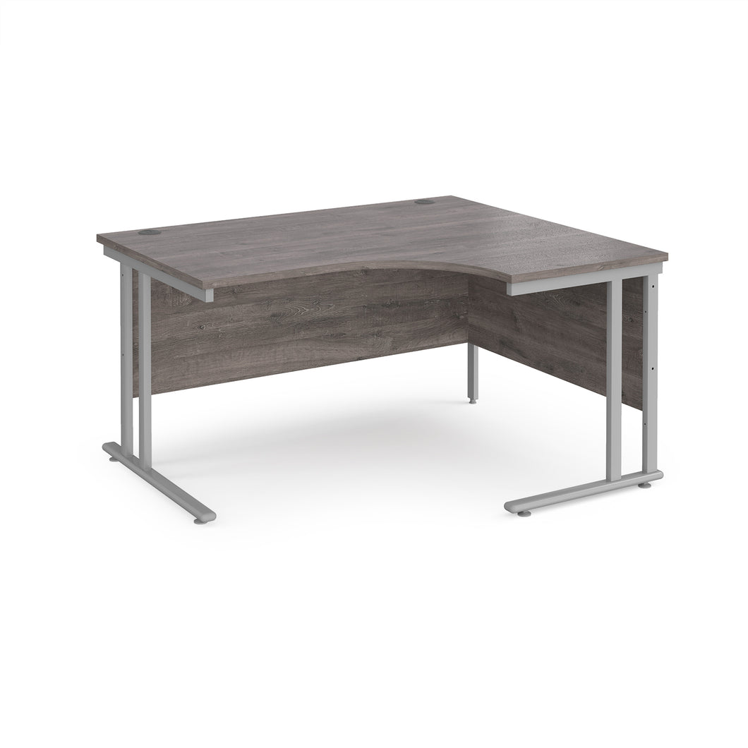 Maestro 25 Radial Desk - Grey Oak
