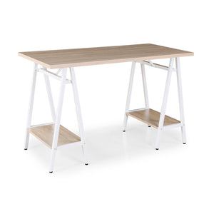 Pella Home Office Workstation With Trestle Legs