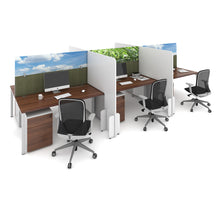 Load image into Gallery viewer, Floor Standing Desk Divider - MFC White