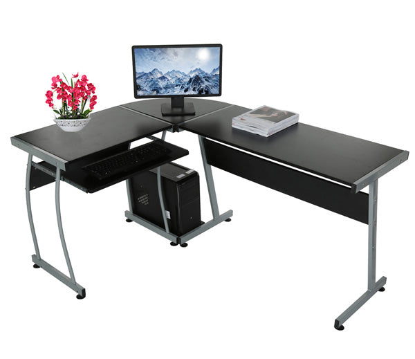 Homdox Home Office L Shape 3-Piece Corner Desk N30* - Flogit2us.com