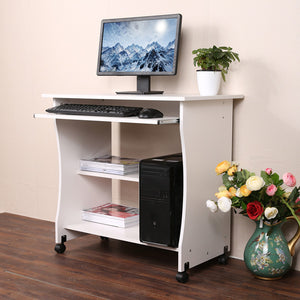 Homdox Home Office Mobile Computer Desk/Workstation With Keyboard Shelf N20* - Flogit2us.com