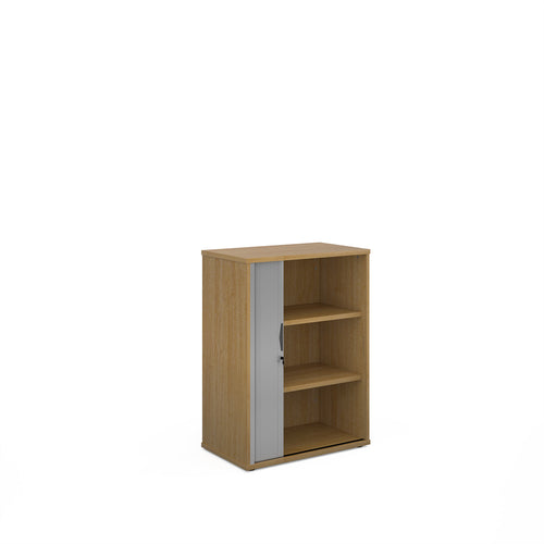 Universal Single Door Tambour Cupboard - Oak
