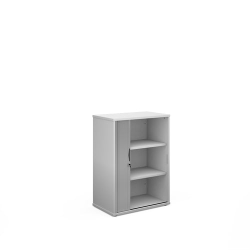 Universal Single Door Tambour Cupboard - White