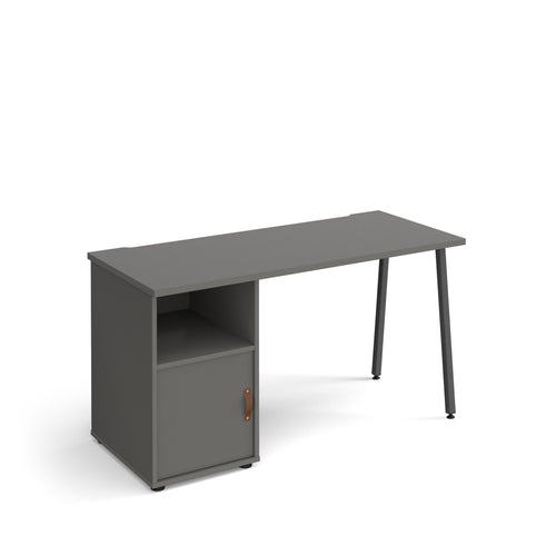 Sparta Home Office Desk With A-Frame Leg And Support Pedestal