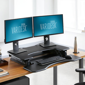 VARIDESK Pro Plus 36 Sit/Stand Desk Unit - Flogit2us.com