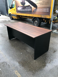 Walnut Executive Desk With Built In Drawers - Flogit2us.com