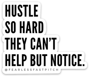 Hustle Quote Sticker - 3x2inch