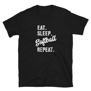 Eat Sleep Softball Softstyle Tee *new colors!*