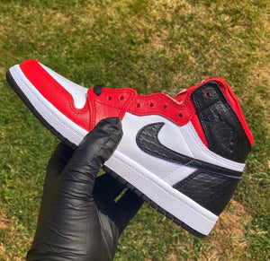 Jordan 1 High Satin Snake Chicago Raffle