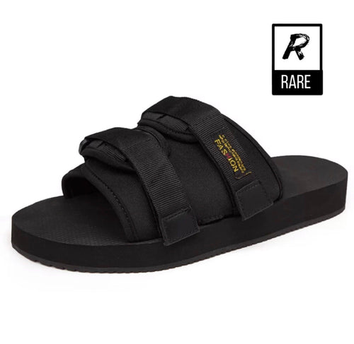 (RareDripSeason) Fetty Black Slides