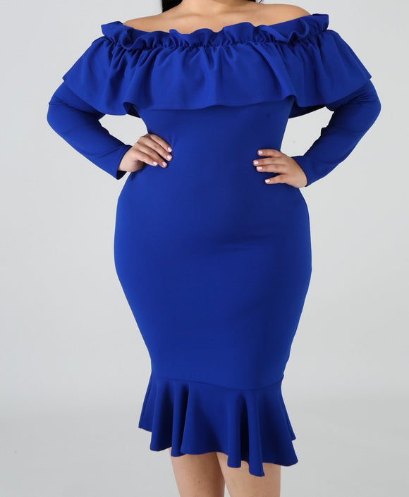 La Flamenca Dress - Blue