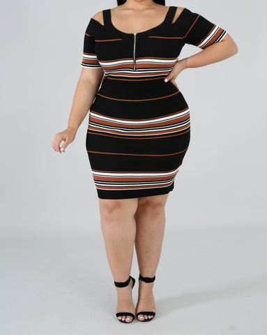 Riely Ribbed Dress - Plus