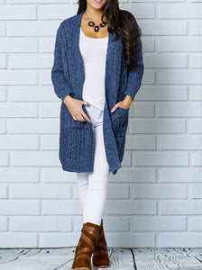 Basic Cardi - Muted Blue
