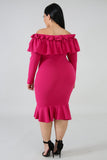 La Flamenca Dress -Magenta