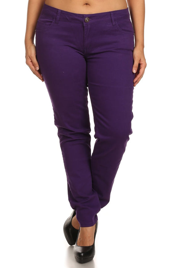 Plain Jane Pants - Grape