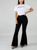 Simple Bell Bottom Jeans