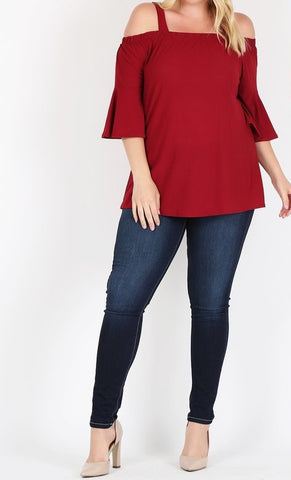 Eliza Top -Red Plus