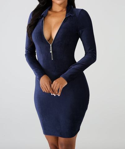 Drive Off Dress-Blue