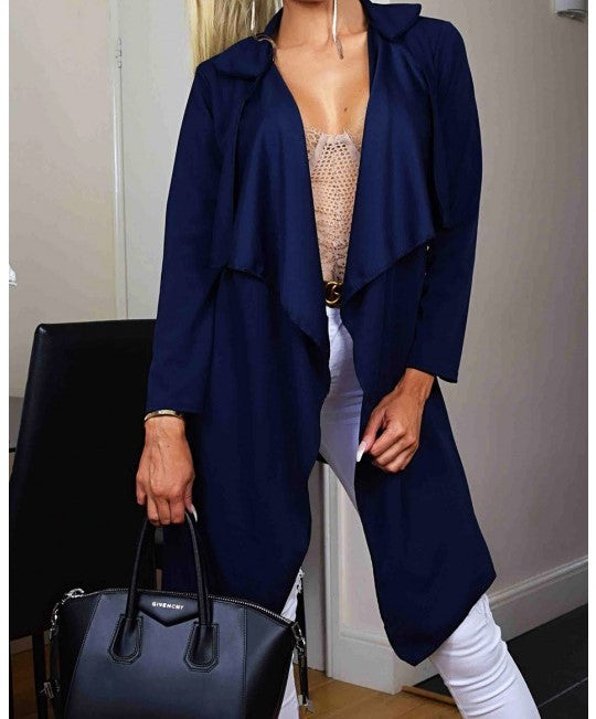 Easy Breezy Jacket-Navy
