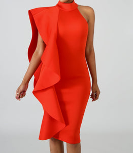 Work For It Dress-Red
