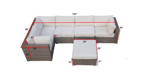 The Mammoth - 6pc Sunbrella® Outdoor Sofa Set - Cozy Corner Patios