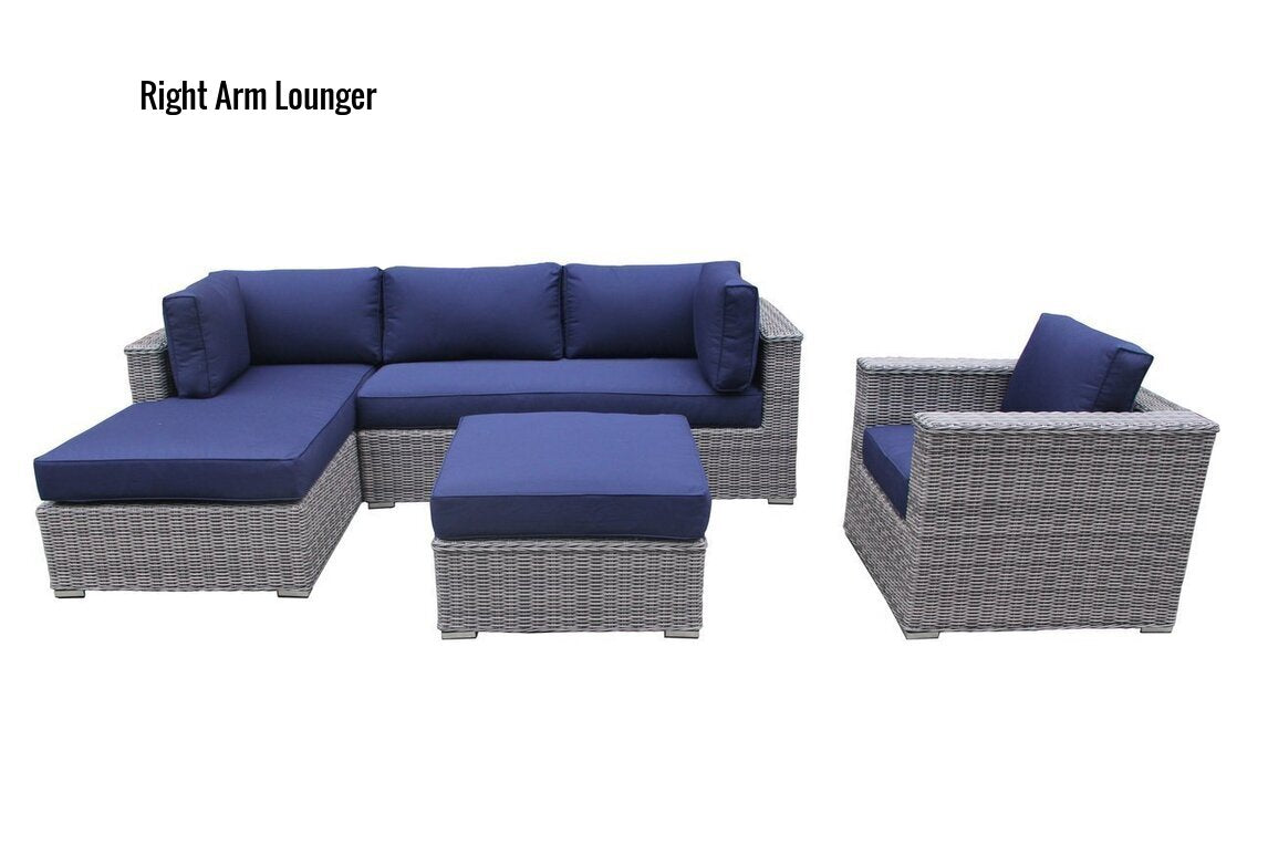 The Glacier - 4pc Sunbrella® Outdoor Sofa Set - Cozy Corner Patios in Navy