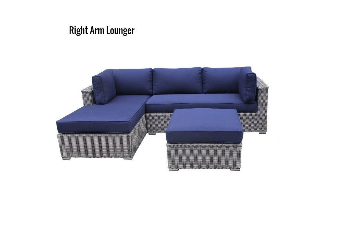 The Sequoia - 3pc Sunbrella® Outdoor Sofa Set - Cozy Corner Patios