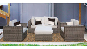 The Acadia - 5pc Sunbrella® Outdoor Sofa Set - Cozy Corner Patios