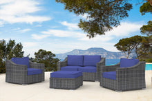 Load image into Gallery viewer, The Crater -  5pc Sunbrella® Outdoor Patio Furniture - Cozy Corner Patios
