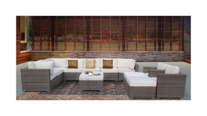 The GrandTeton - 12pc Sunbrella® Outdoor Sofa Set - Cozy Corner Patios